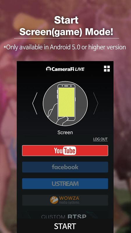 Android CameraFi Live Screen 5