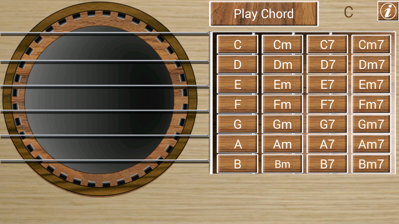 Android Guitar! Screen 1