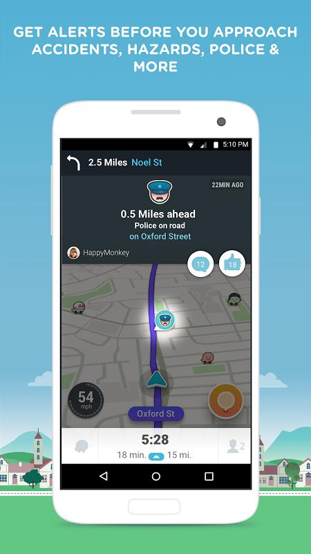 Waze - Sat Nav, Maps & Traffic 4.22.1.901 Screen 2