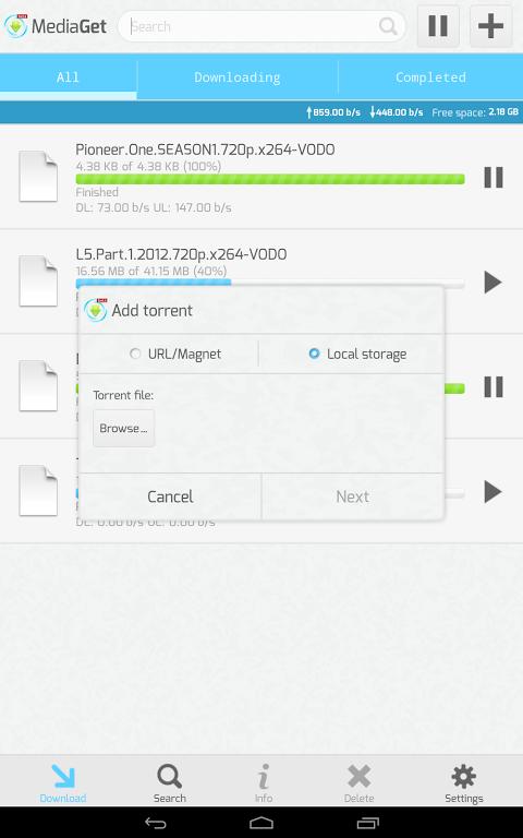 MediaGet 0.9.1 Screen 2