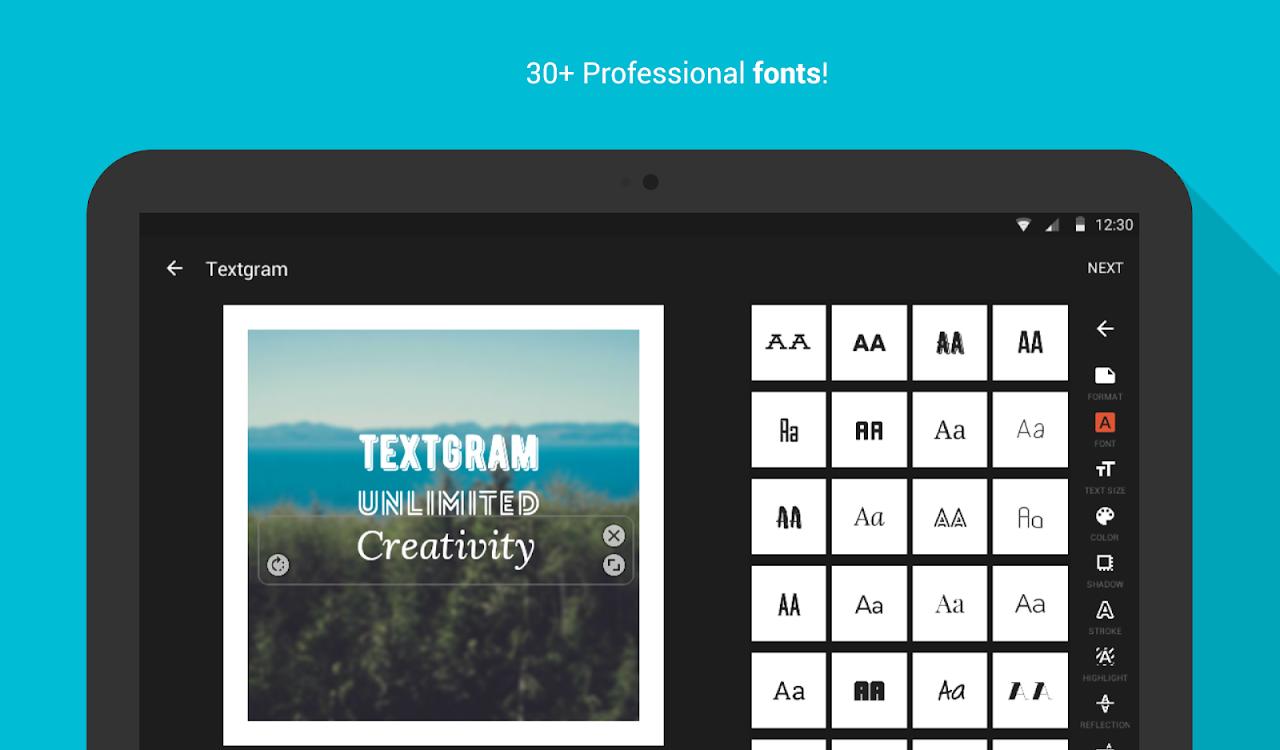 Android Textgram - write on photos Screen 19