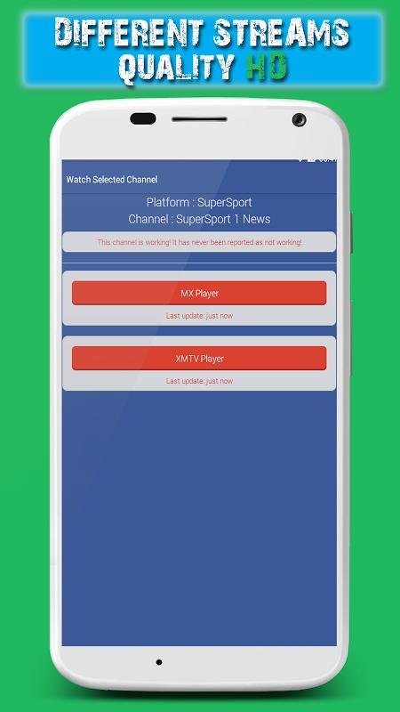 Android iHA Sports TV - Live Football Screen 4