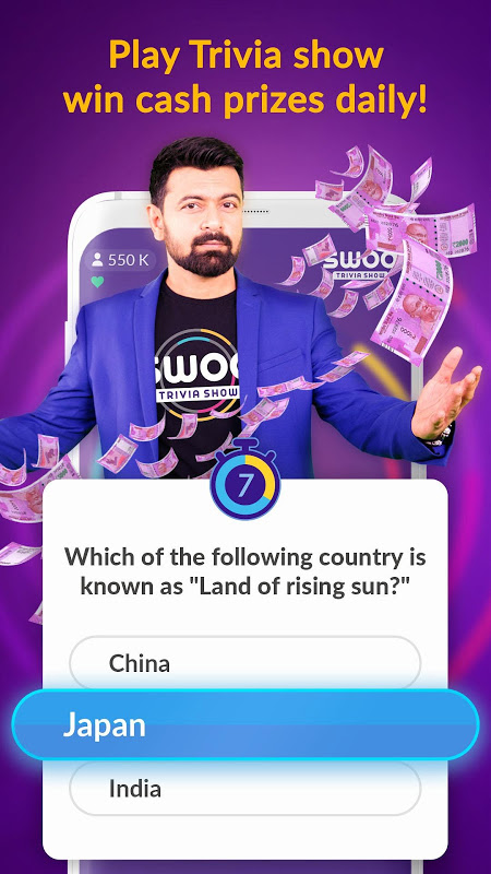 Android Swoo - Live Trivia and Bingo Screen 5