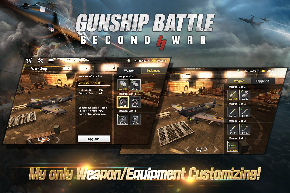 Android GUNSHIP BATTLE: SECOND WAR Screen 3