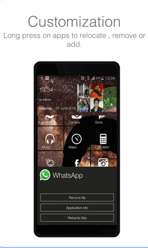 Android WP Style Launcher 10 (No Ads) Screen 6