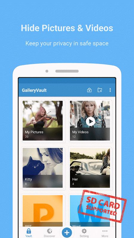 Android Gallery Vault - Hide Pictures Screen 1