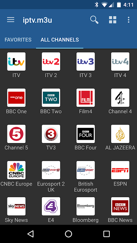 Android IPTV Screen 3