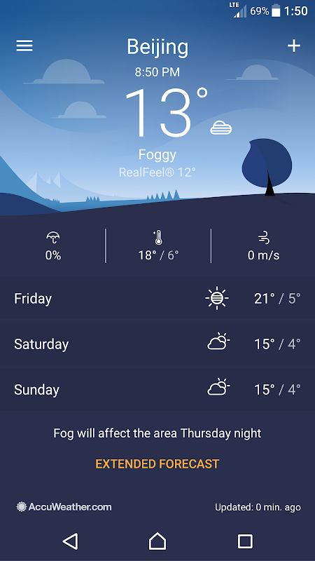 Android Sony Weather Screen 6