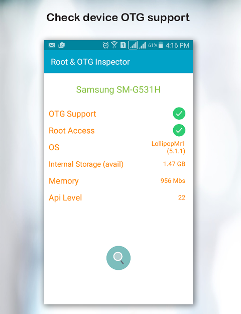 Root & OTG (USB) Inspector 1.4 Screen 2