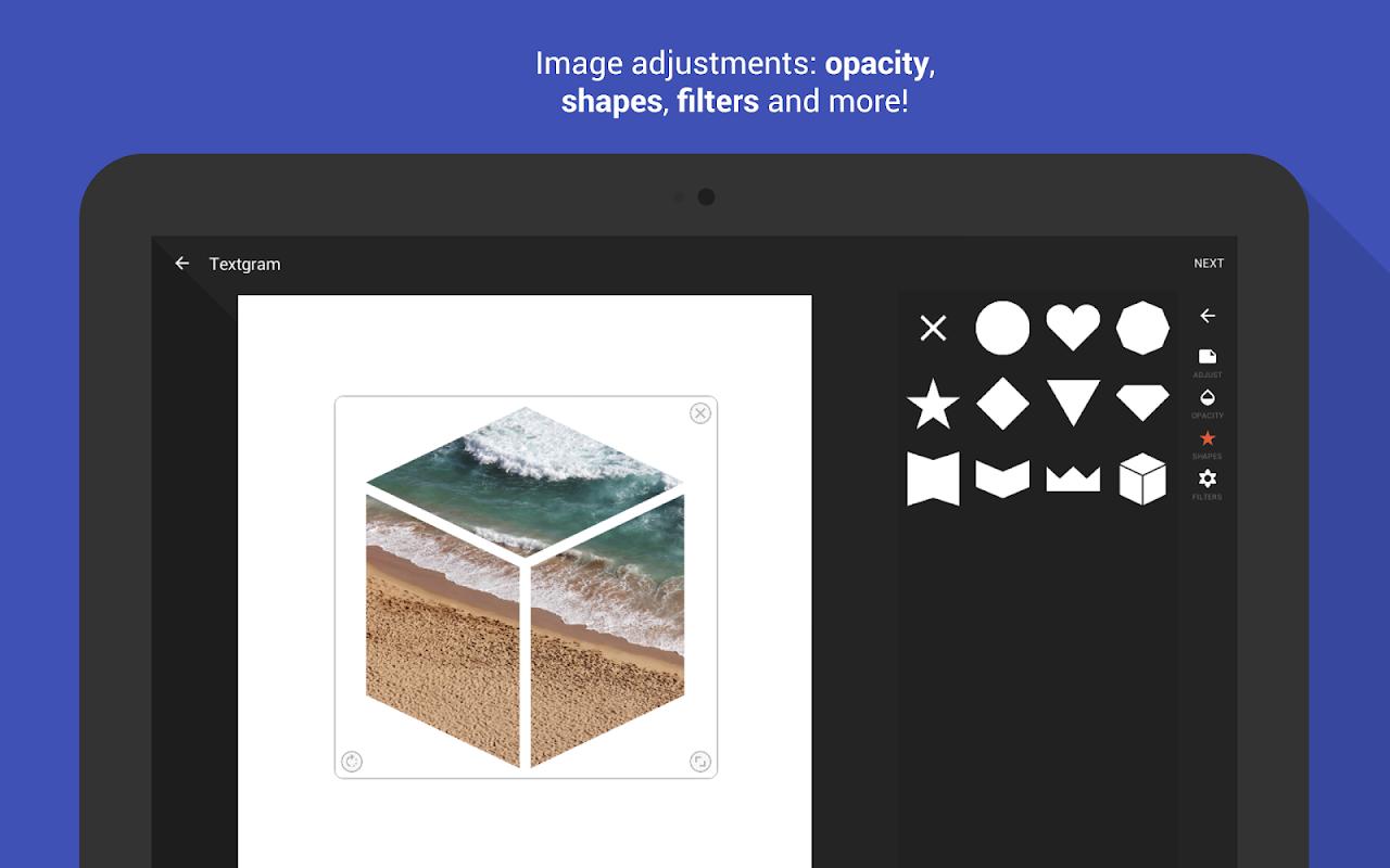Android Textgram - write on photos Screen 13
