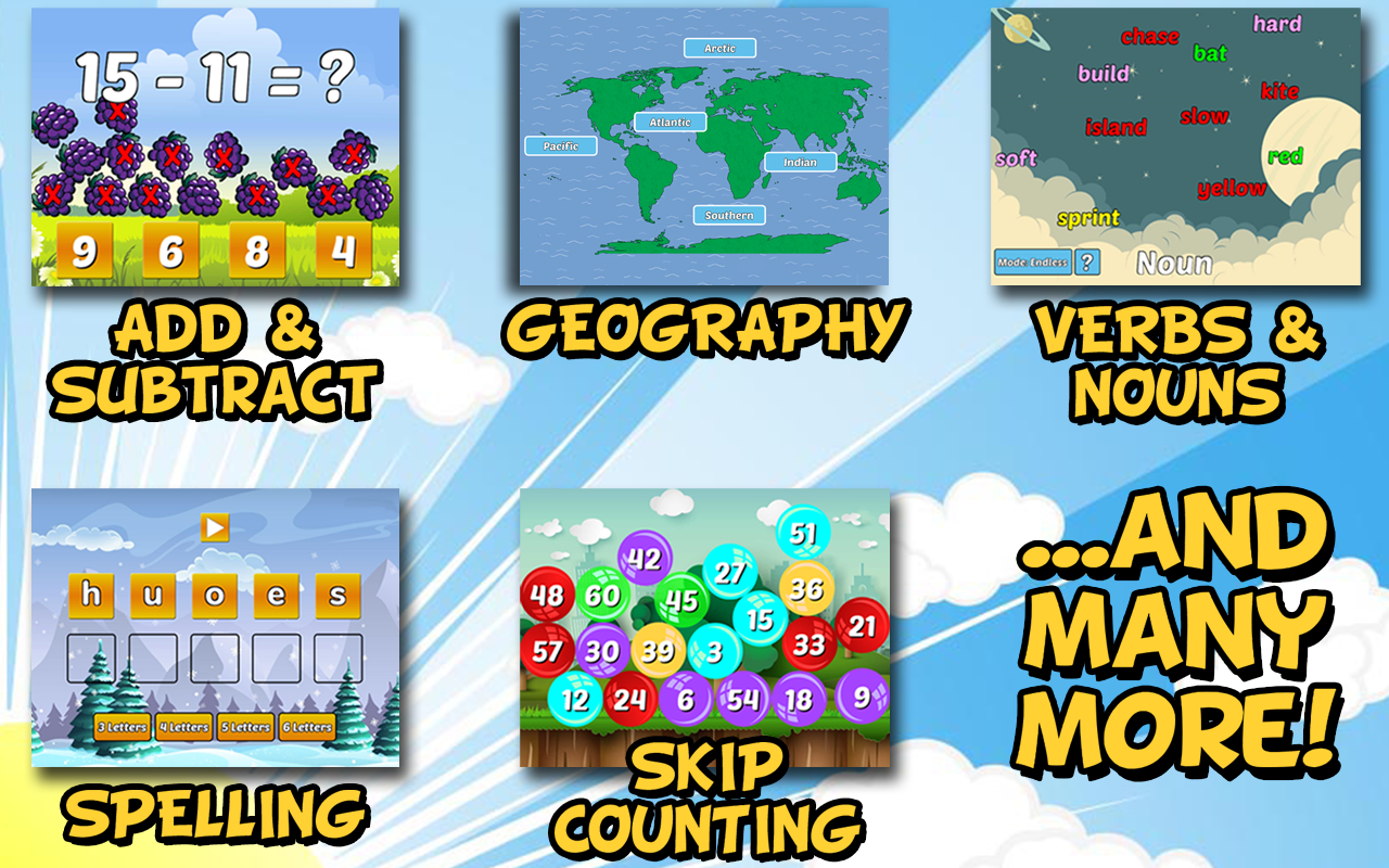 First Grade Learning Games 3.2 Screen 2