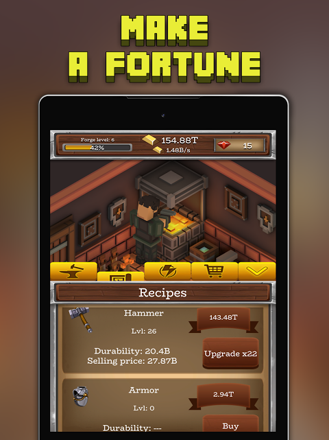 Android ForgeCraft - Idle Tycoon. Blacksmith Business Screen 6
