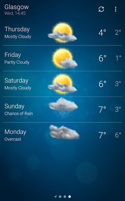 Weather 5.0.9 Screen 2