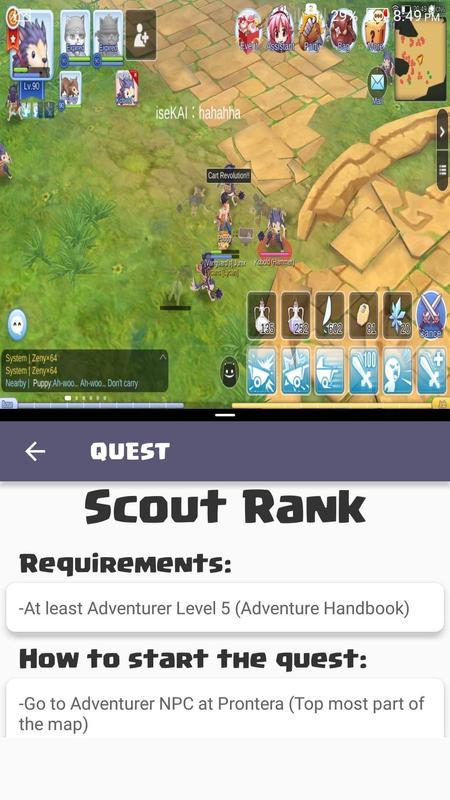 Android Ragnarok M Guide: GlobalSEA Screen 1