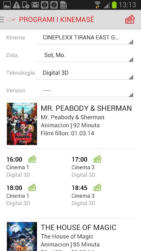 Cineplexx Shqipëria 3.9.3 Screen 1