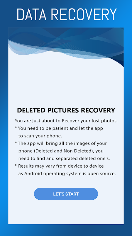 Deleted Pictures Restore : Image Recovery Free App 2.2 Screen 4