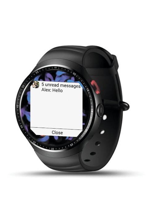 Android SmartWatch Connect Screen 1