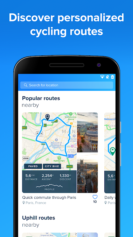 Android Bikemap - GPS Bike Route Tracker & Map for Cycling Screen 3