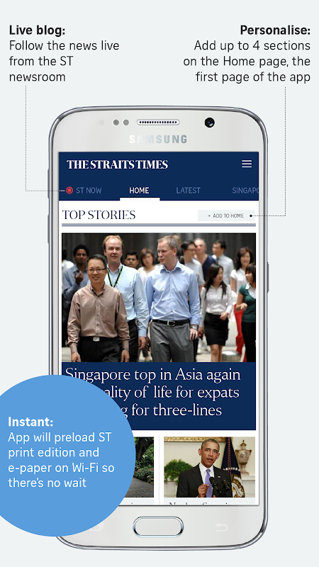 The Straits Times for Smartphone 6.7.9 Screen 1