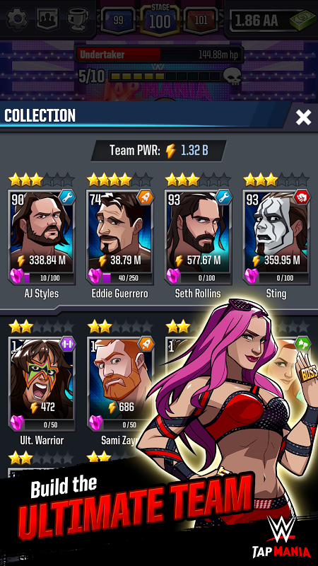 Android WWE Tap Mania Screen 2