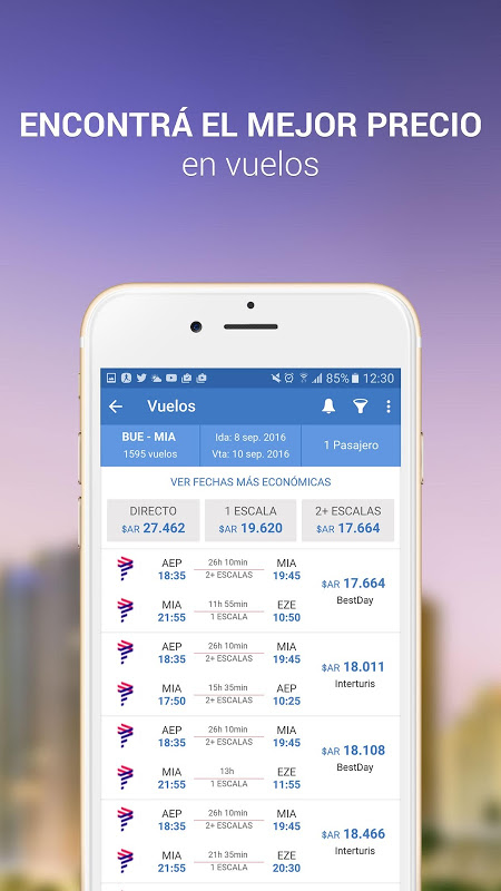 Android Turismocity Vuelos Baratos Screen 2