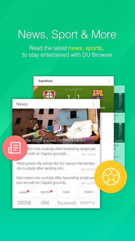Android DU Browser Screen 1