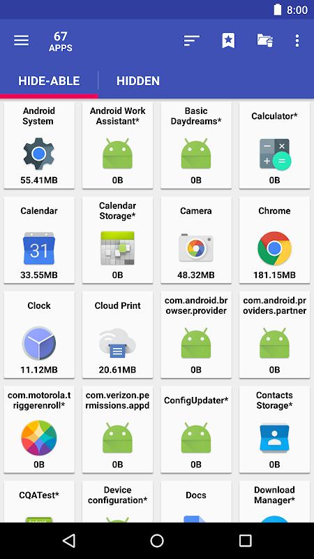AppMgr Pro III (App 2 SD, Hide and Freeze apps) 4.58 Screen 2