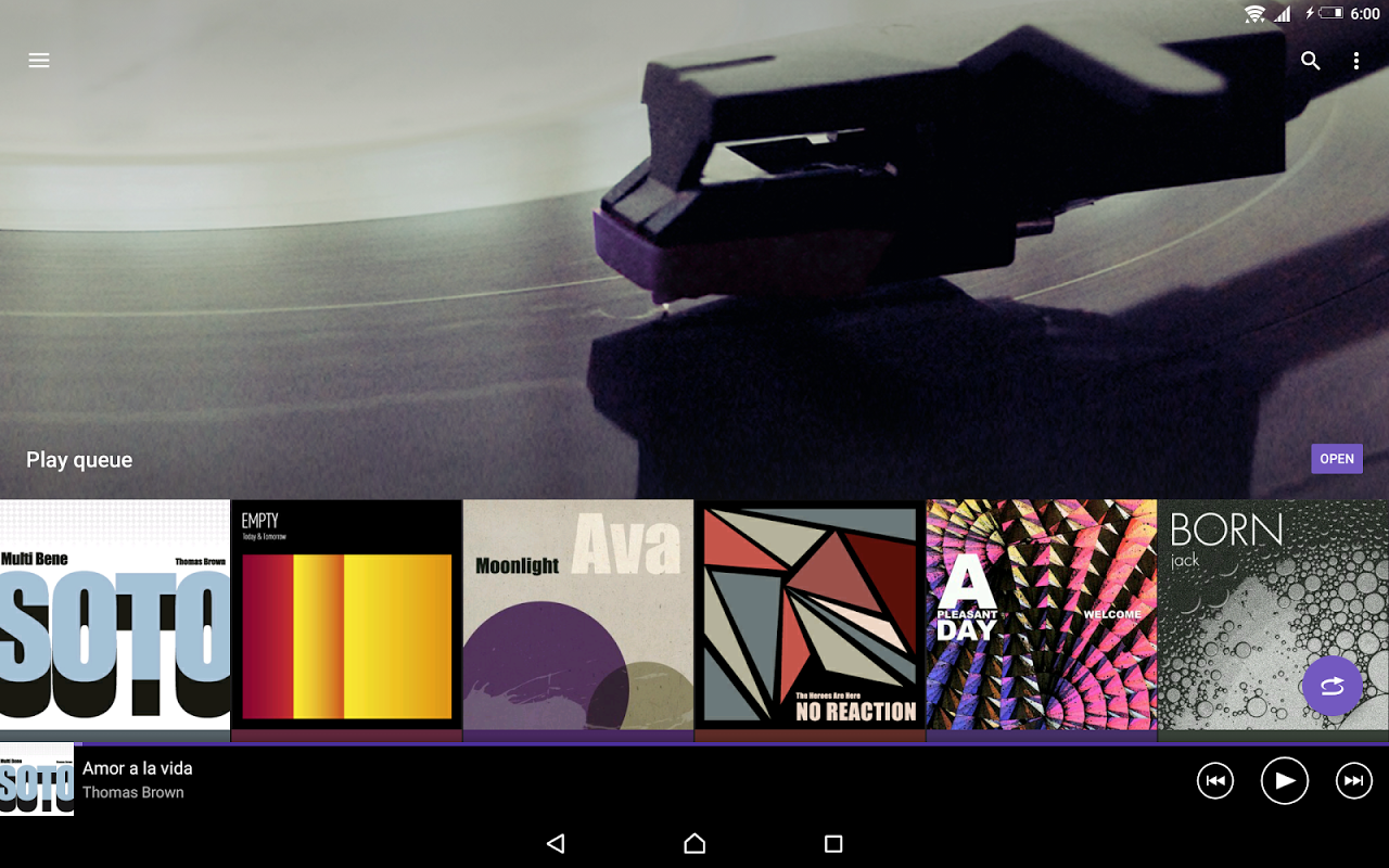 Android Music Screen 7