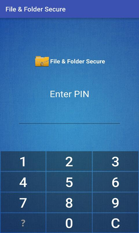 Android File & Folder Secure Screen 7