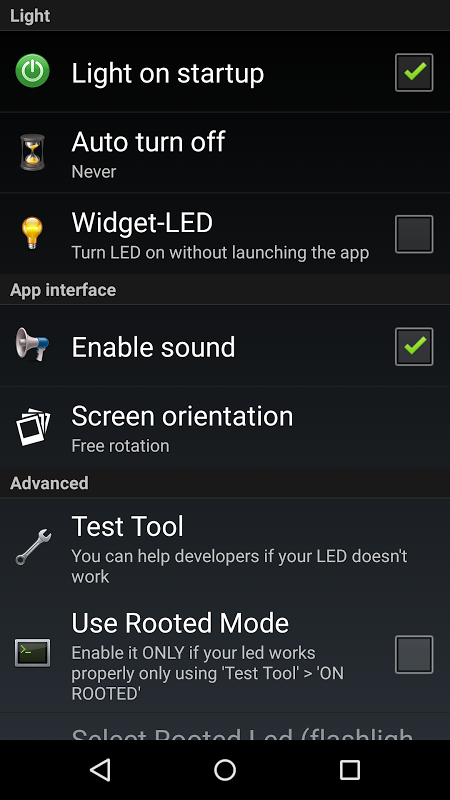 Torch Flashlight LED HD 1.94.08 (Google Play) Screen 7