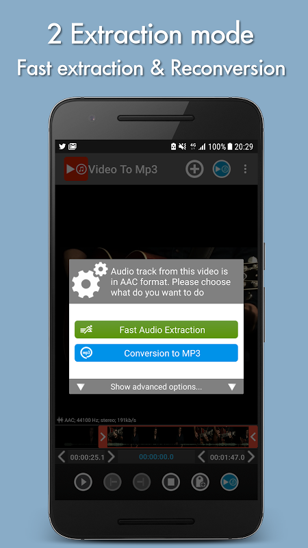 Android Video to mp3 Screen 1