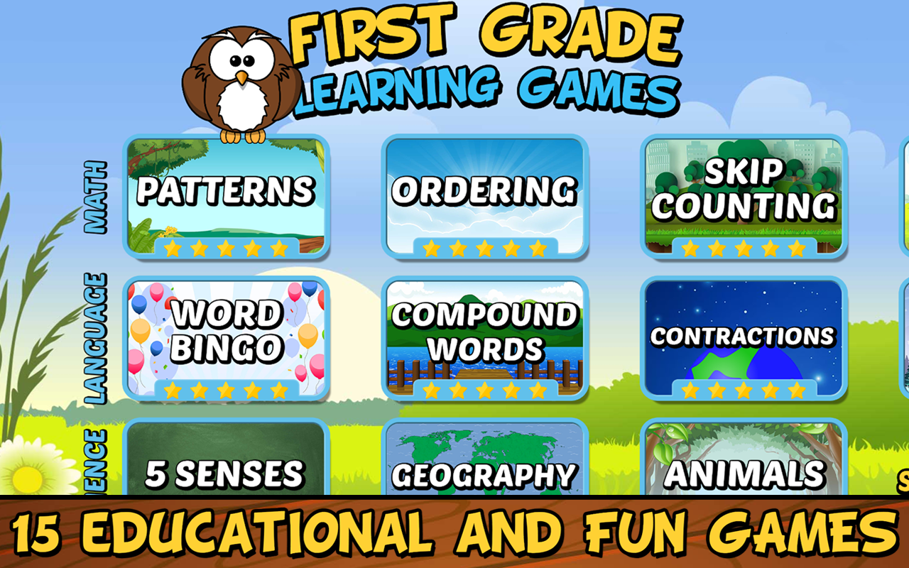 First Grade Learning Games 3.2 Screen 1
