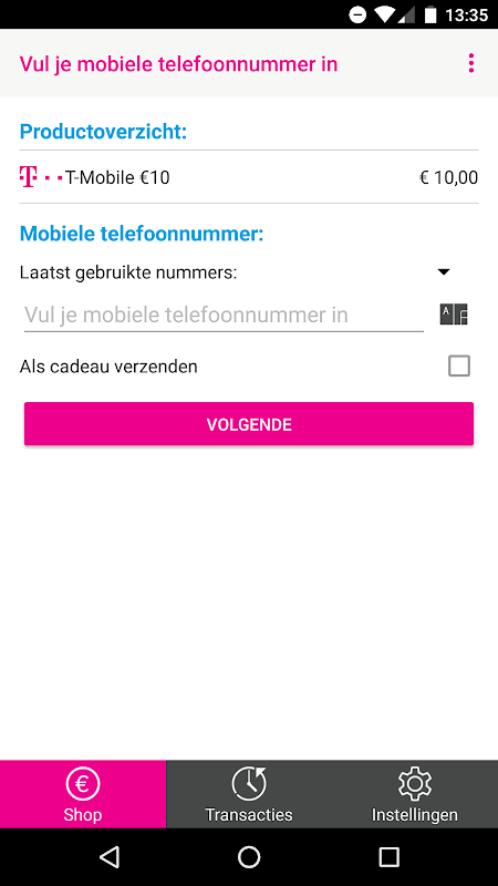 Android T-Mobile PrePaid Screen 1
