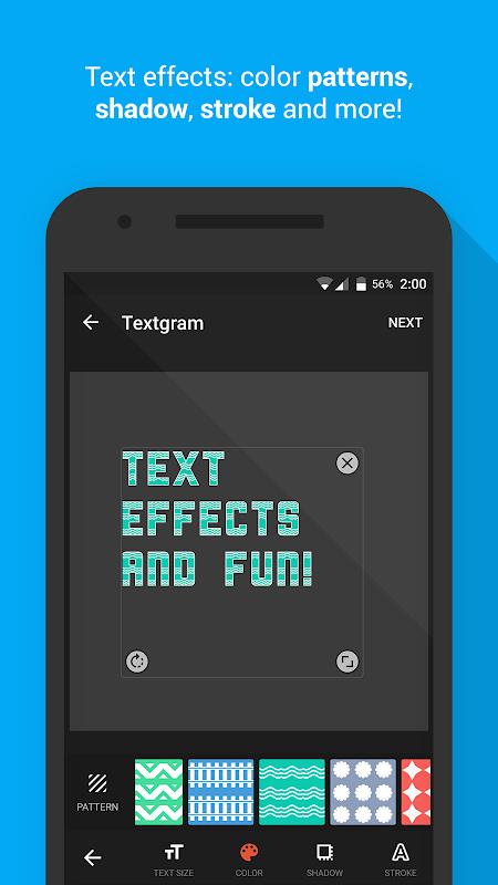 Android Textgram - write on photos Screen 4