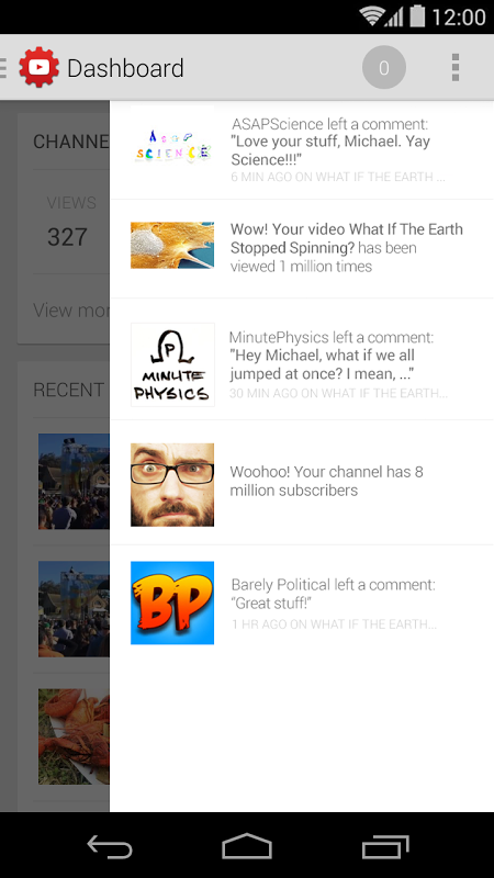 YouTube Creator Studio 1.5.3.0 Screen 3
