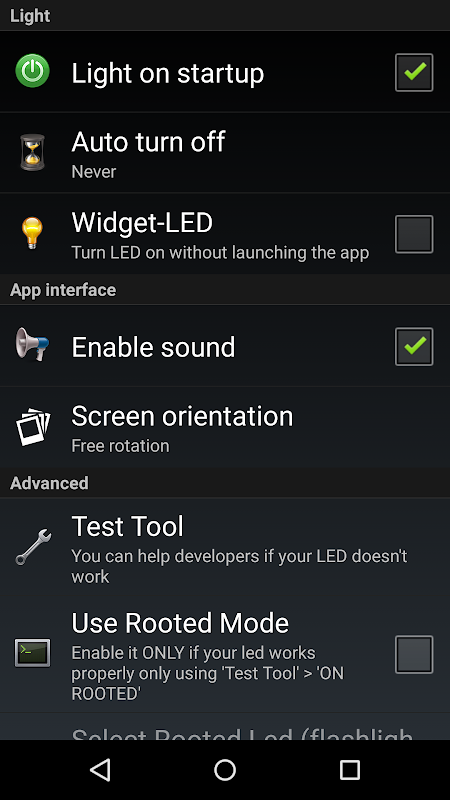 Torch Flashlight LED HD 2.01.10 (Google Play) Screen 5