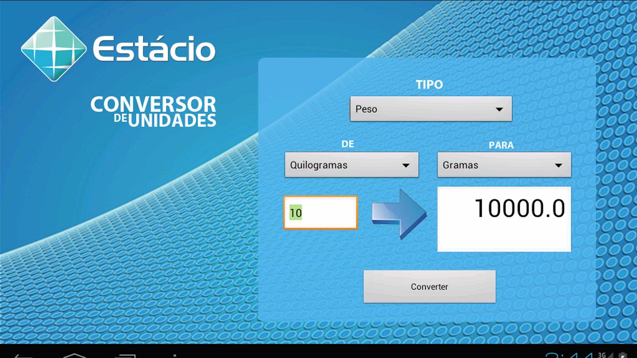 Android Conversor de Unidades Screen 2