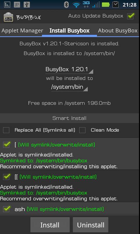 BusyBox 62 Screen 3