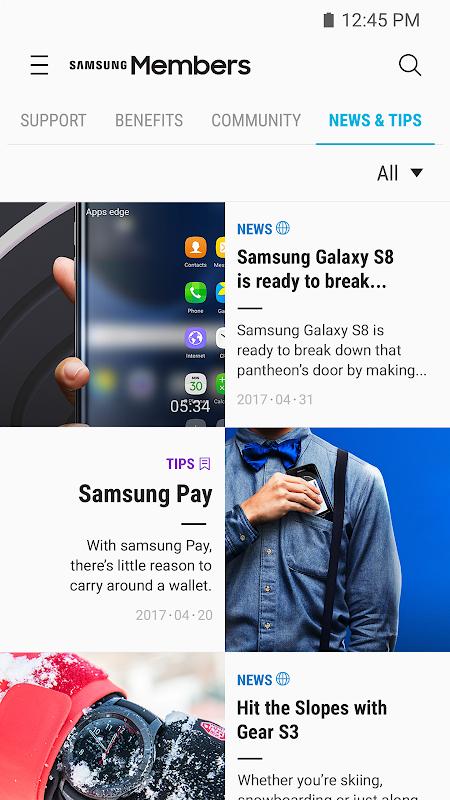 Samsung Members 2.9.00.18 Screen 1