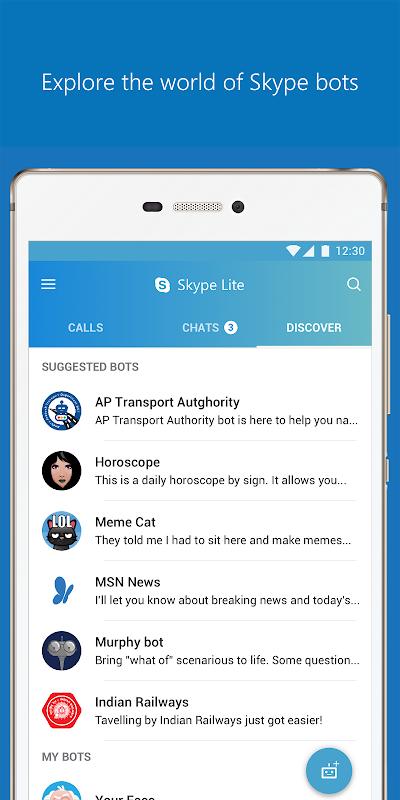 Skype Lite - Free Video Call & Chat 1.79.76.3 Screen 6