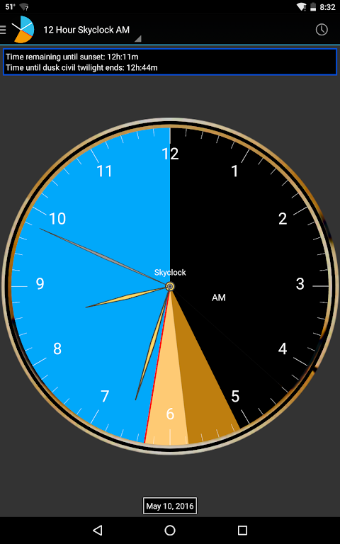 Android Skyclock Screen 7