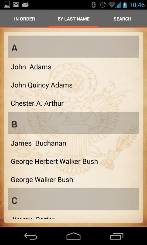 U.S. Presidents 1.8.1 Screen 12