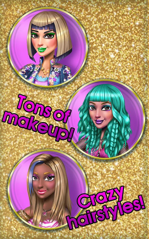 Android Makeup Game: Tris VIP Makeover Screen 3