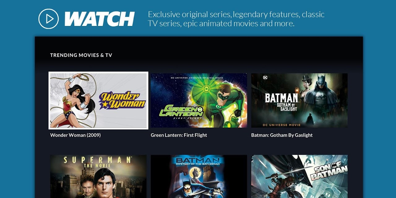 DC Universe - Android TV 1.08 Screen 2