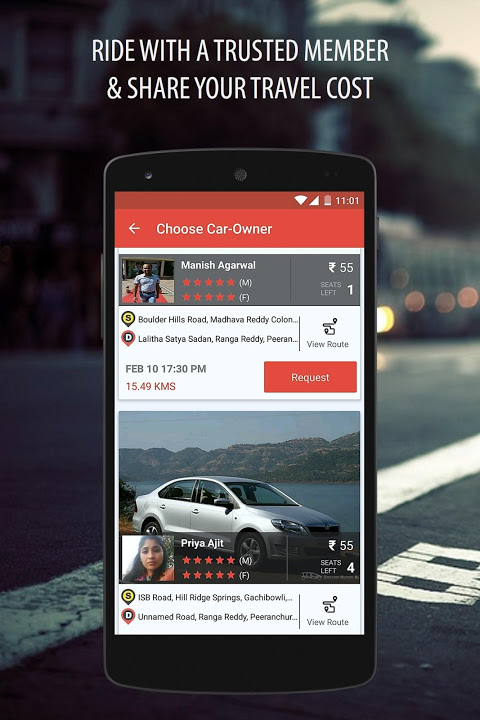 Android Zify - Safe & Flexible Carpool Screen 1