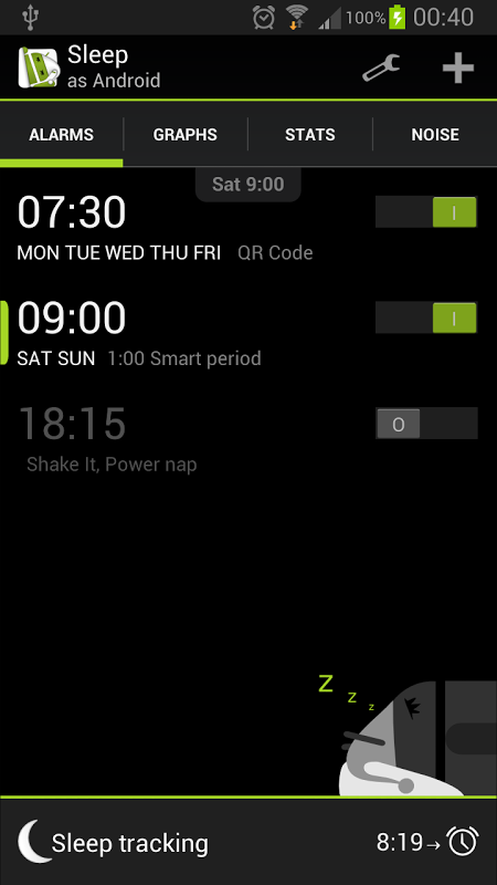 Sleep as Android 20130901-fullad Screen 8