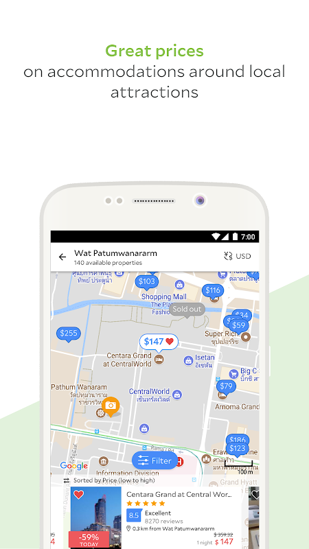 Android Agoda – Hotel Booking Deals Screen 2