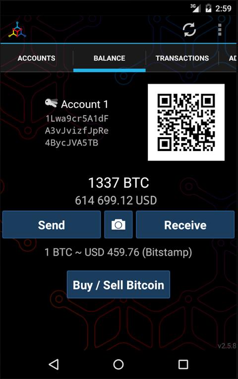 Android Mycelium Bitcoin Wallet Screen 5