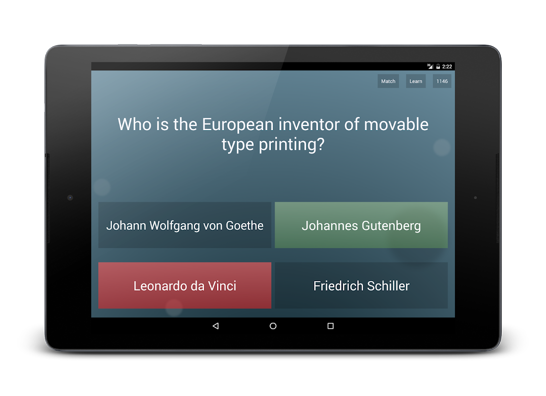 Android General Knowledge Quiz Screen 7