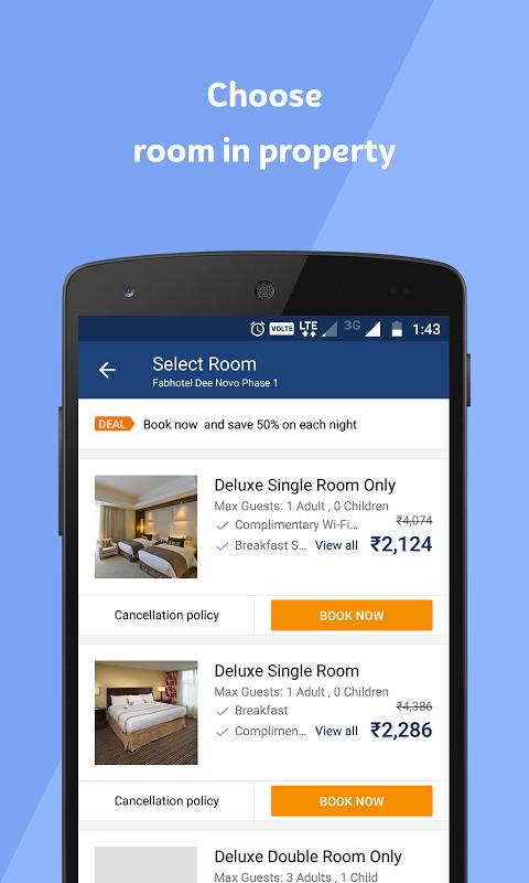 Android Travelguru Homestays Screen 3